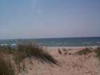 Lake Michigan beach looking toward Pentwater